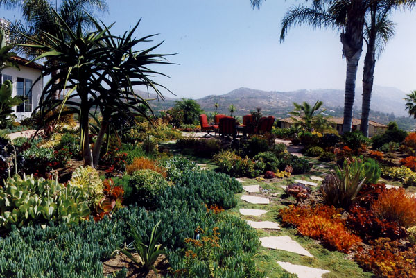 Drought Tolerant Front Yard Beautiful Front Yard Drought Tolerant Plants Mulch And Flagstone
